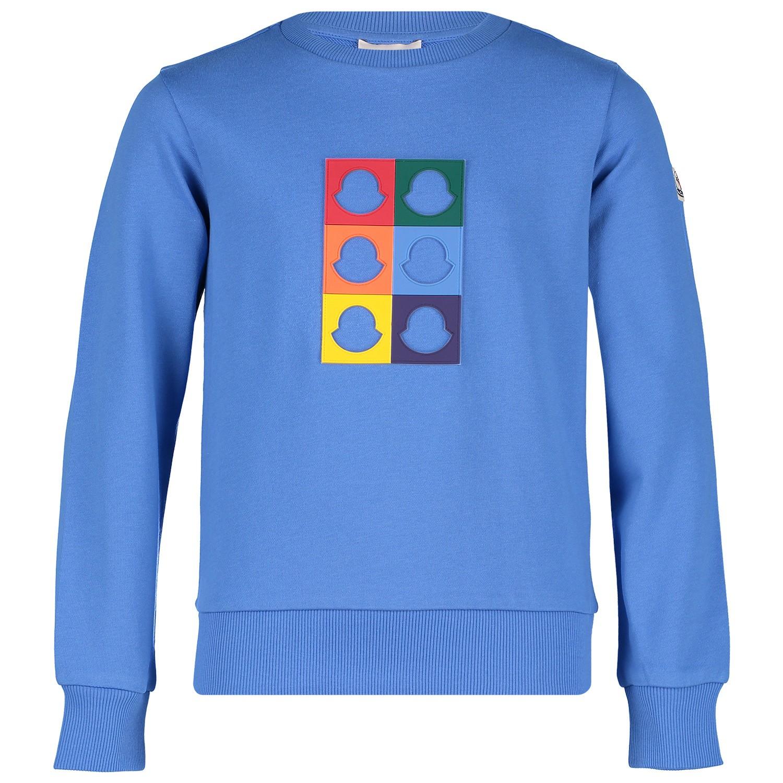 Afbeelding van Moncler 8026005 kindertrui blauw