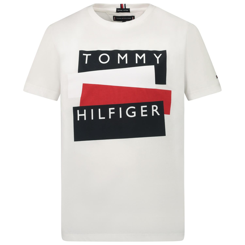Afbeelding van Tommy Hilfiger KB0KB05849 kinder t-shirt wit