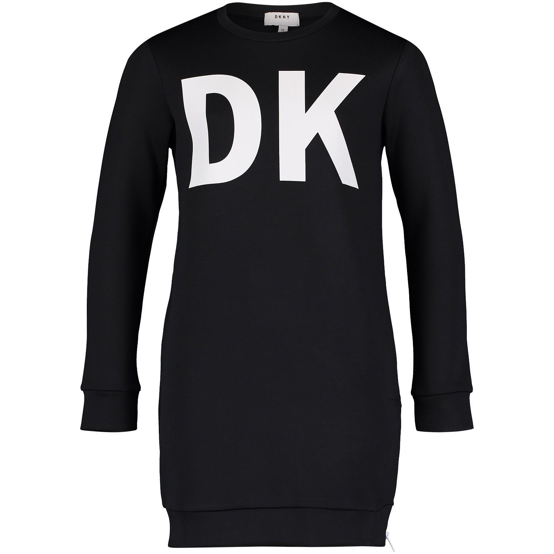 Afbeelding van DKNY D32679 kinderjurk zwart