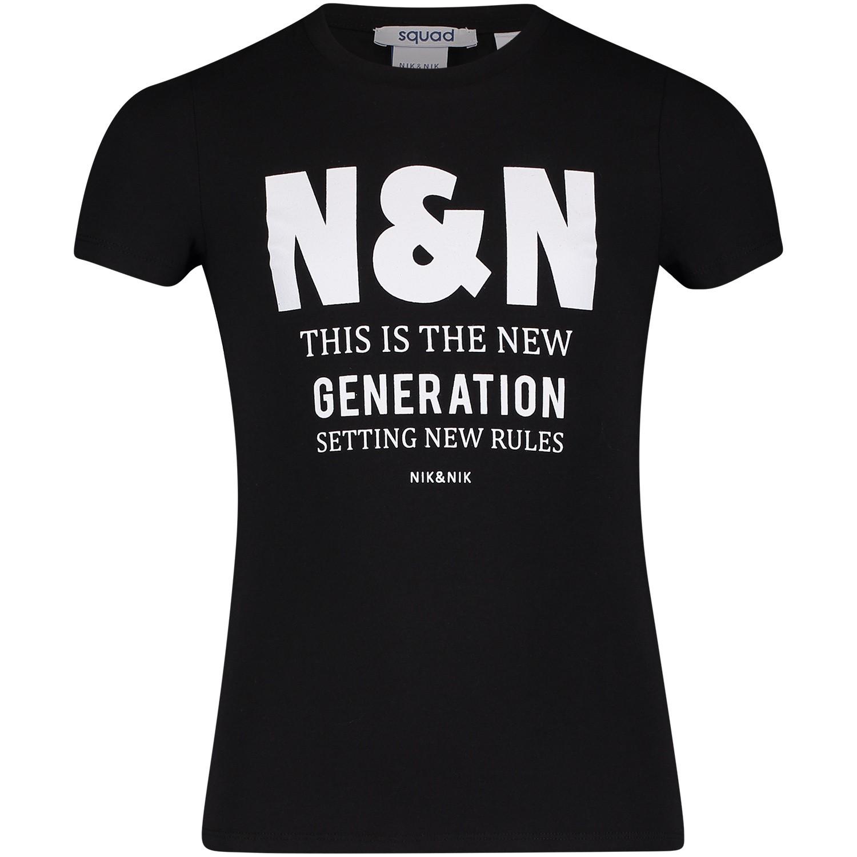 Afbeelding van NIK&NIK G8467 kinder t-shirt zwart
