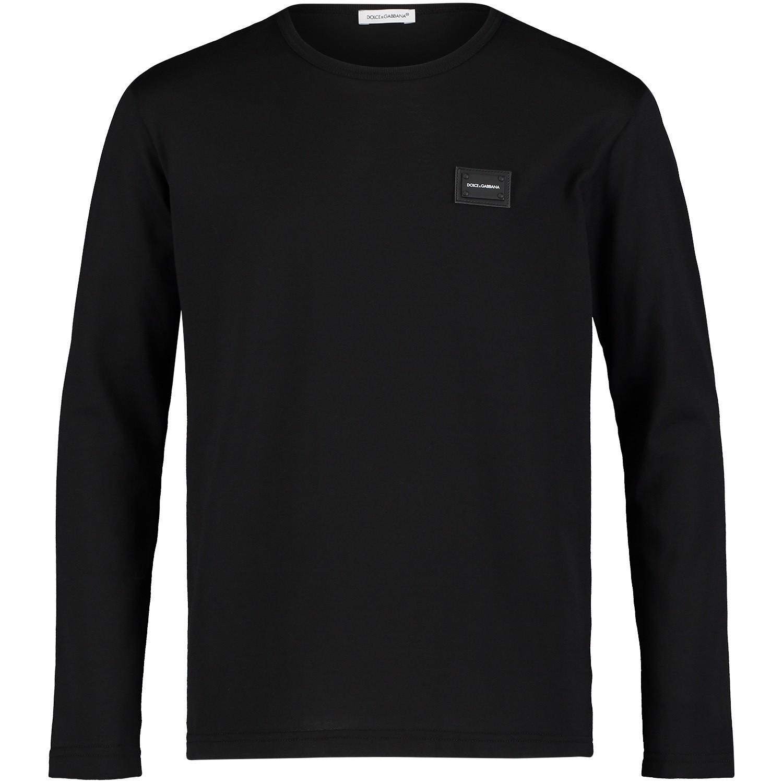 Afbeelding van Dolce & Gabbana L4JT7M kinder t-shirt zwart