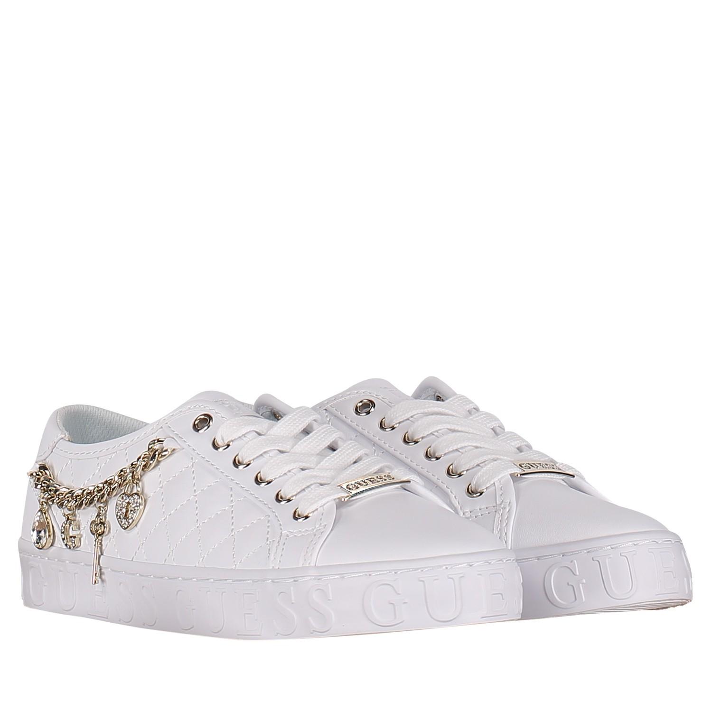 36cd1c85027 Dames Sneakers Guess Fl6grsele12 Coccinelle Wit Bij C5wgw0x