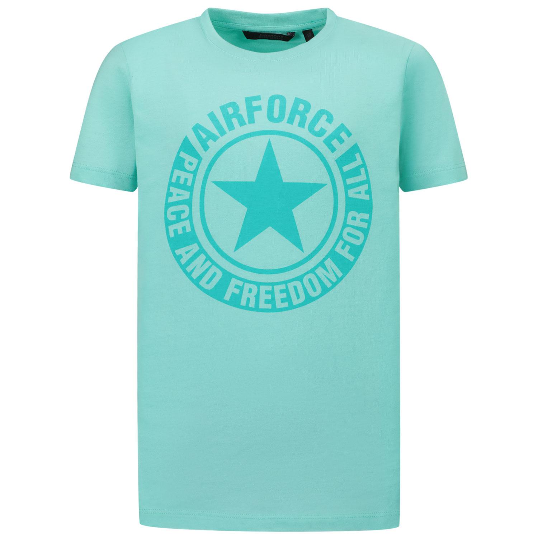 Afbeelding van Airforce TBB0730 kinder t-shirt turquoise