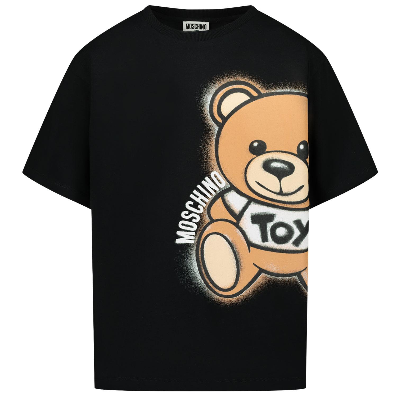 Afbeelding van Moschino HQM02X kinder t-shirt zwart