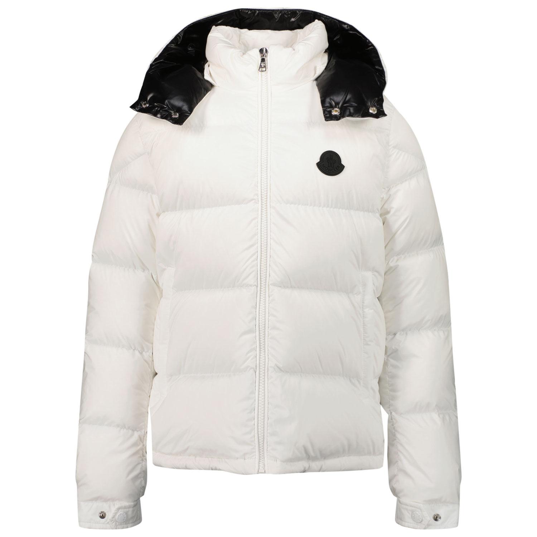 Afbeelding van Moncler 1A53F20 kinderjas off white