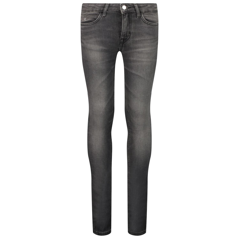 Afbeelding van Calvin Klein IG0IG01207 kinder jeans grijs