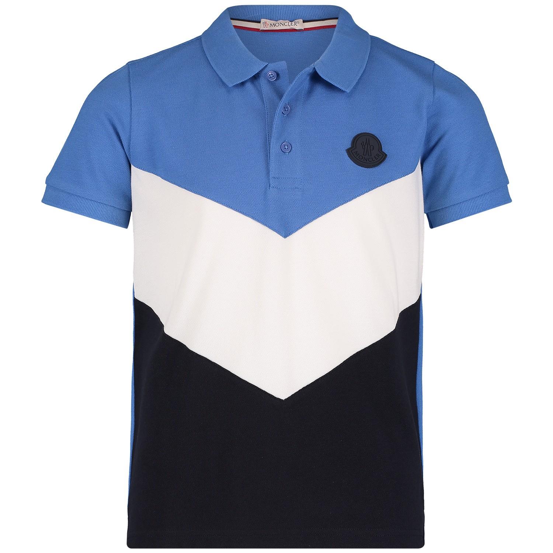 Afbeelding van Moncler 8311305 kinder polo blauw