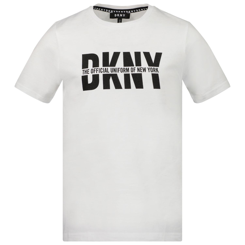 Afbeelding van DKNY D25D26 kinder t-shirt wit