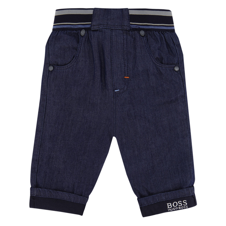 Afbeelding van Boss J94259 babybroekje jeans