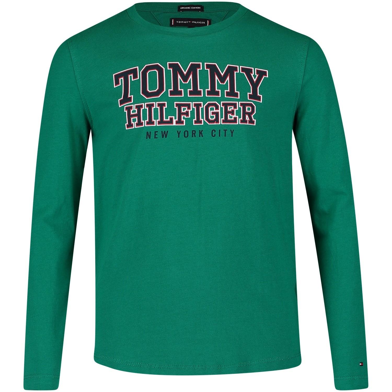 Afbeelding van Tommy Hilfiger KB0KB04297 kinder t-shirt groen