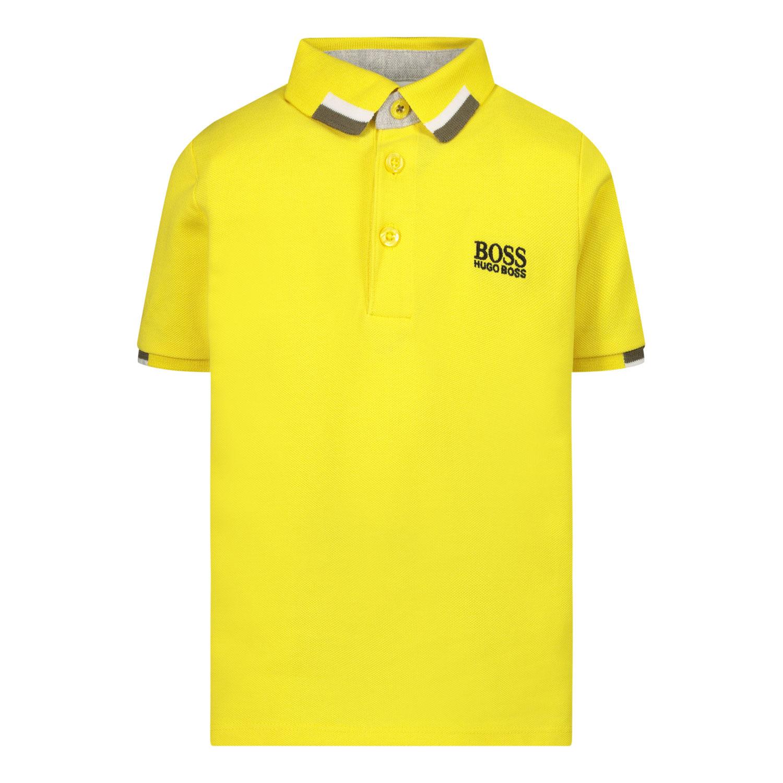Afbeelding van Boss J05847 baby polo geel
