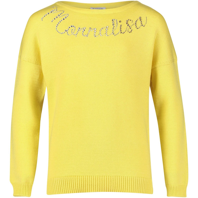 Picture of MonnaLisa 172603A3 kids sweater yellow