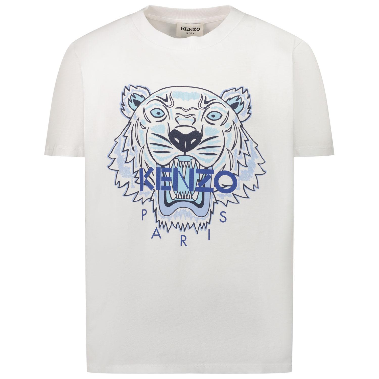 Afbeelding van Kenzo K25115 kinder t-shirt wit/blauw