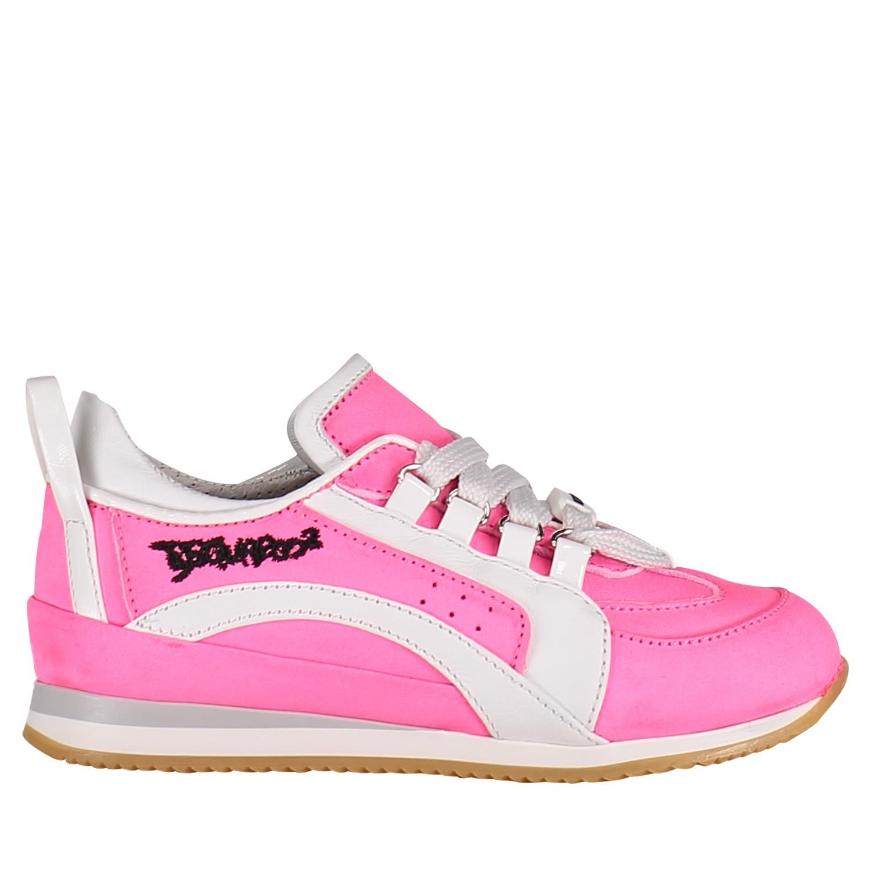 Afbeelding van Dsquared2 59659 kindersneakers fluor roze