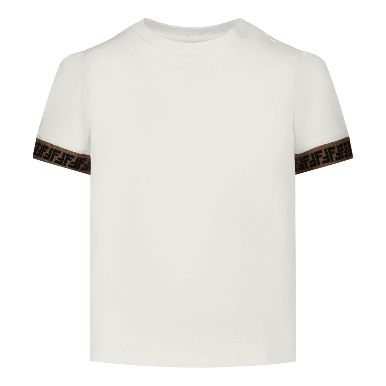 Afbeelding van Fendi BMI216 baby t-shirt off white