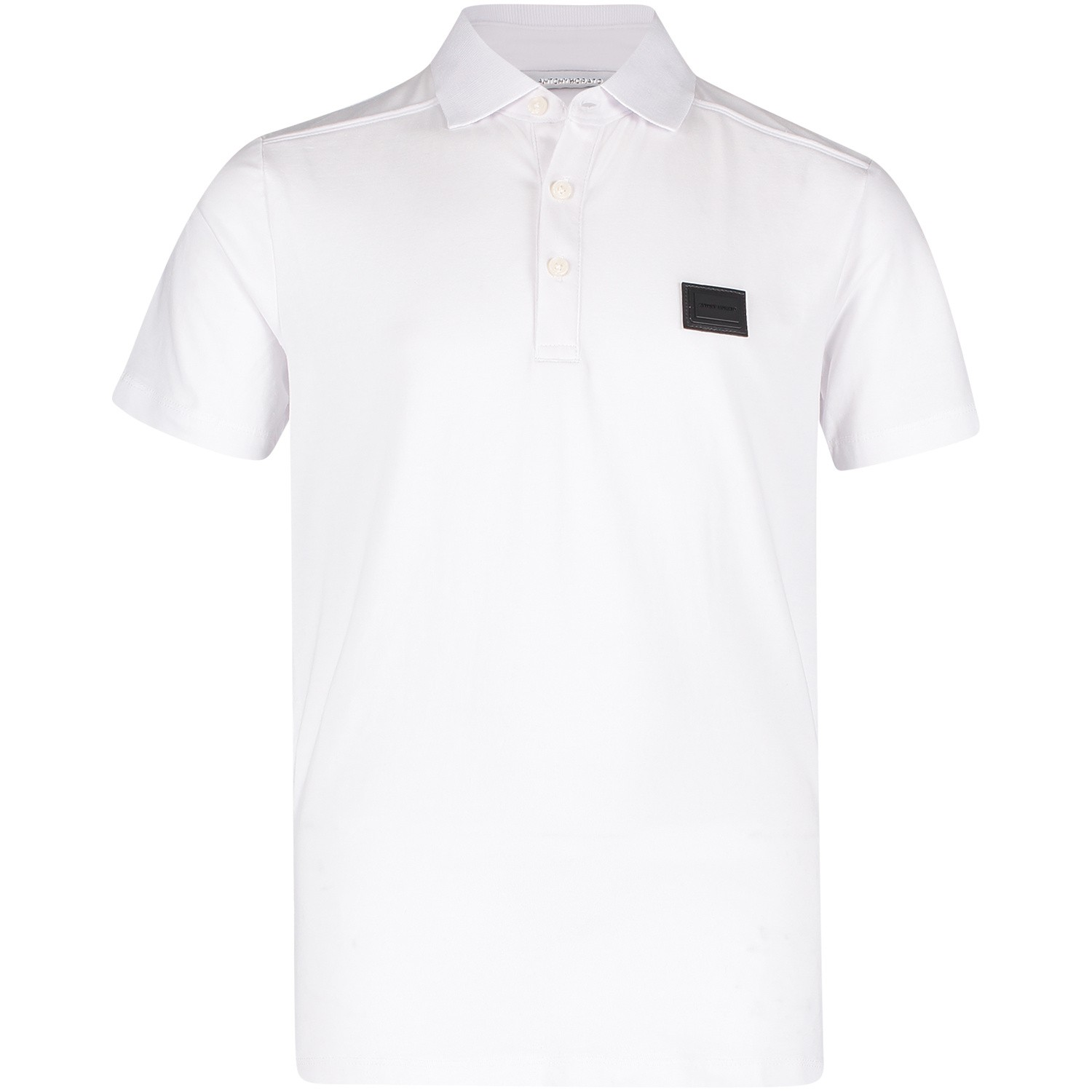 Picture of Antony Morato MKKS00381 kids polo shirt white