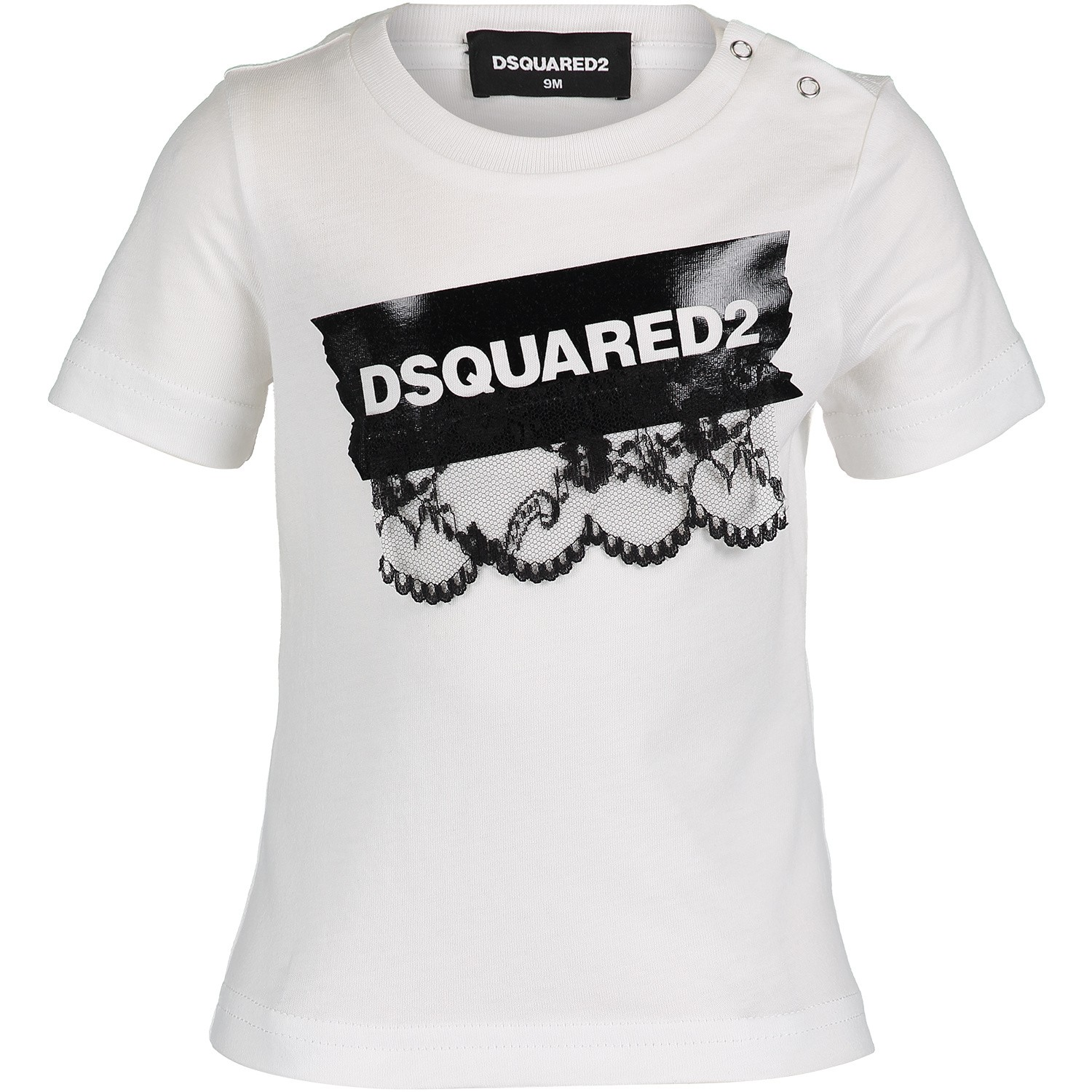 Picture of Dsquared2 DQ03JE baby shirt white