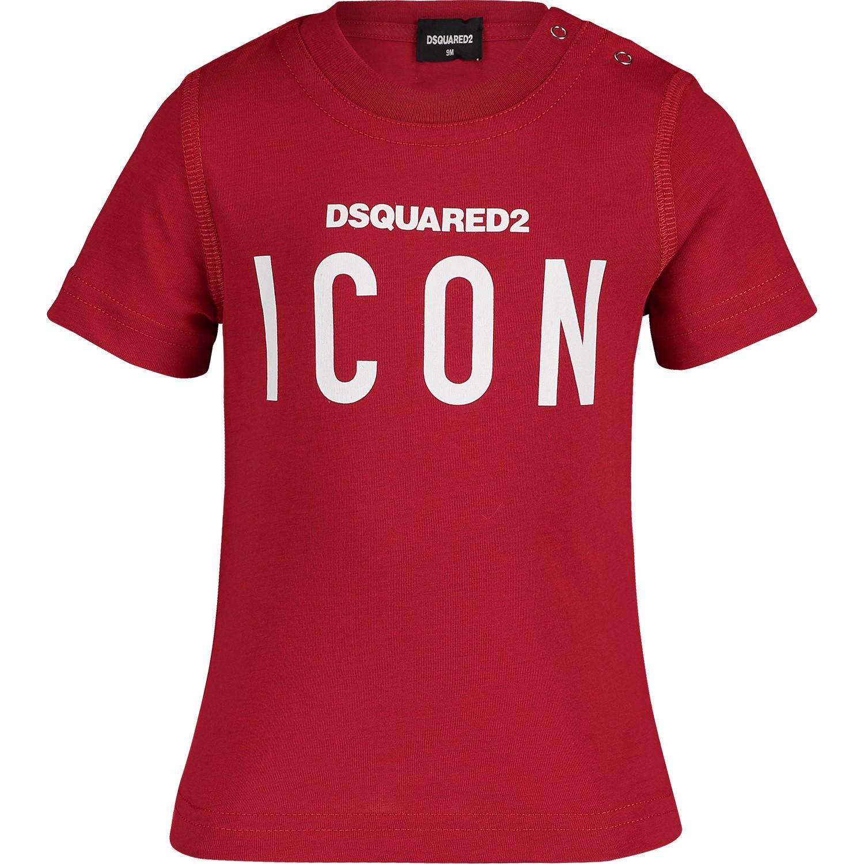 Afbeelding van Dsquared2 DQ03G1 baby t-shirt rood