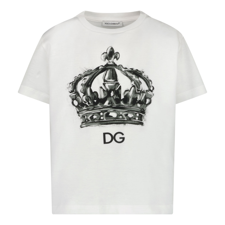 Afbeelding van Dolce & Gabbana L4JTBL G7XPA kinder t-shirt wit