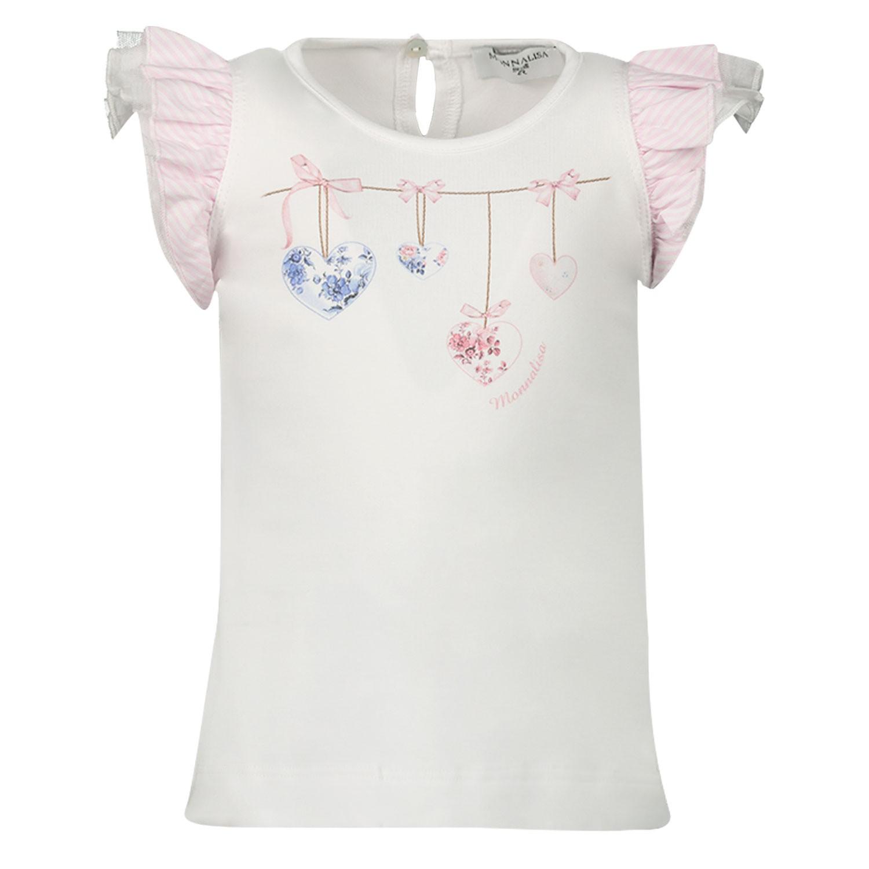Afbeelding van MonnaLisa 395605S9 baby t-shirt wit