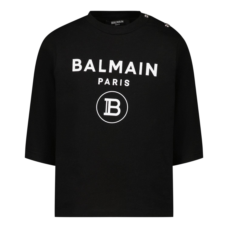 Afbeelding van Balmain 6O8A20 baby t-shirt zwart