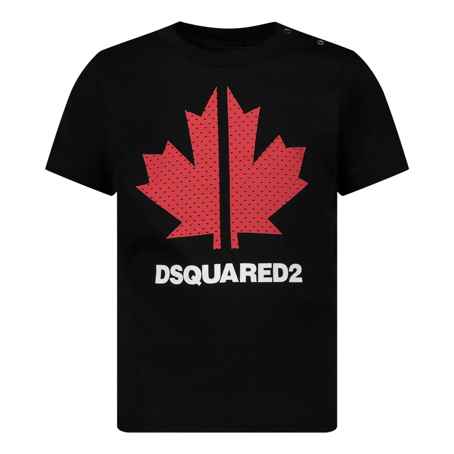 Afbeelding van Dsquared2 DQ0029 baby t-shirt zwart