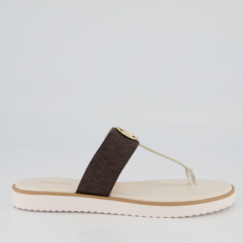 Afbeelding van Michael Kors 40S9LIFA1B dames slippers bruin