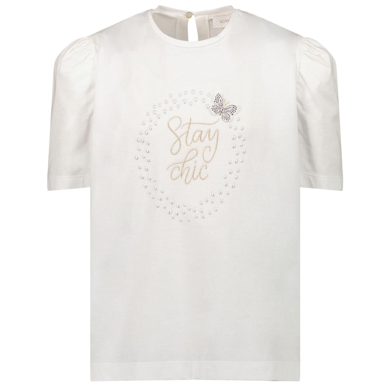 Afbeelding van MonnaLisa 798603SN kinder t-shirt off white