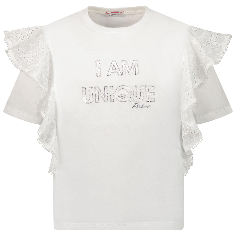 Afbeelding van Pinko 027582 kinder t-shirt wit