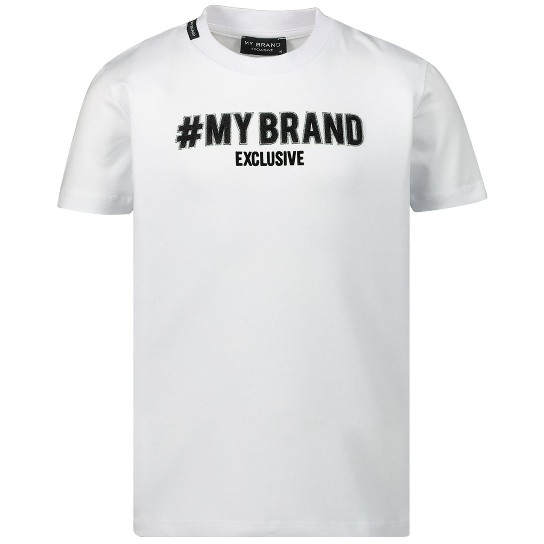 Afbeelding van My Brand BMBTS001G3062 kinder t-shirt wit