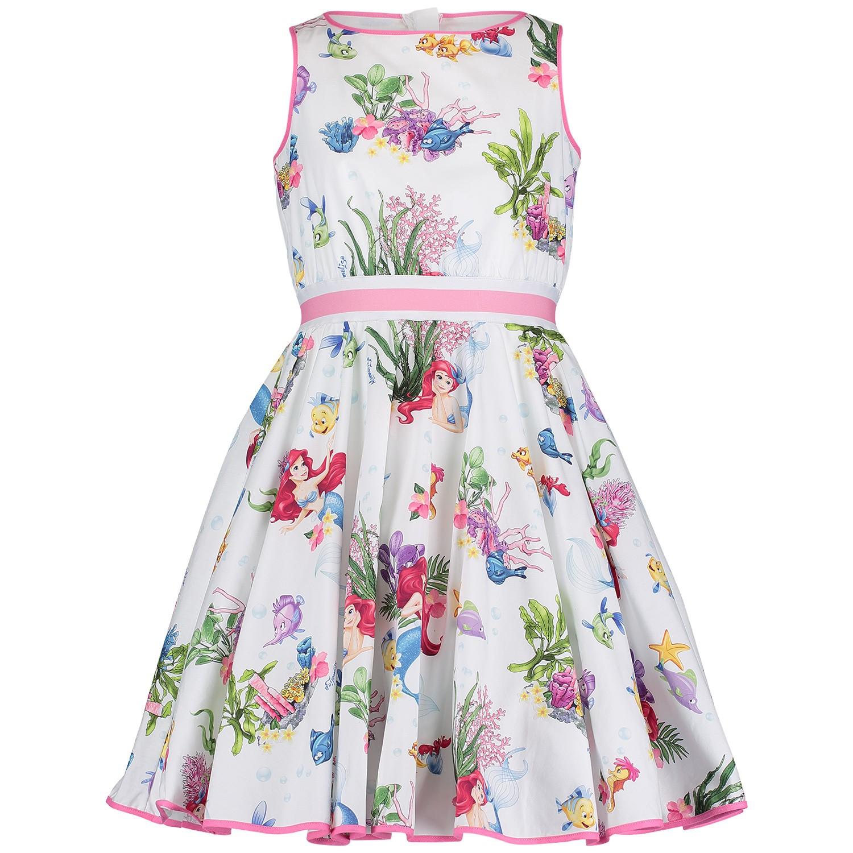Monnalisa Kinderkleding.Monnalisa 113930 Meisjes Kinderjurk Wit Bij Coccinelle