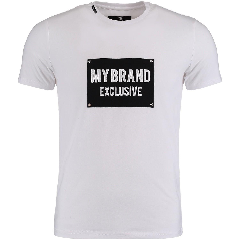 Afbeelding van My Brand MMBTS032GM005 heren t-shirt wit