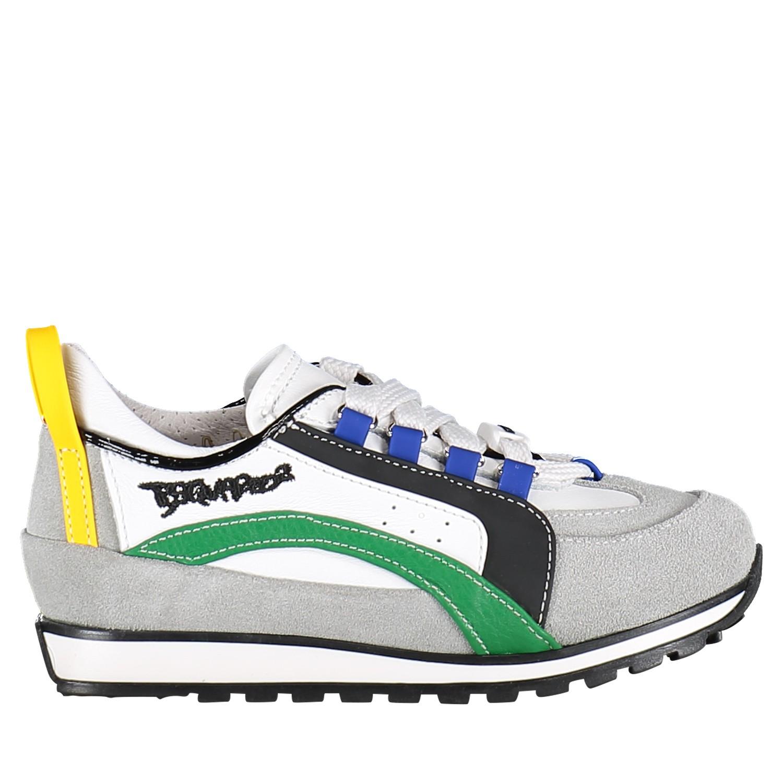 Afbeelding van Dsquared2 59683 kindersneakers wit/groen