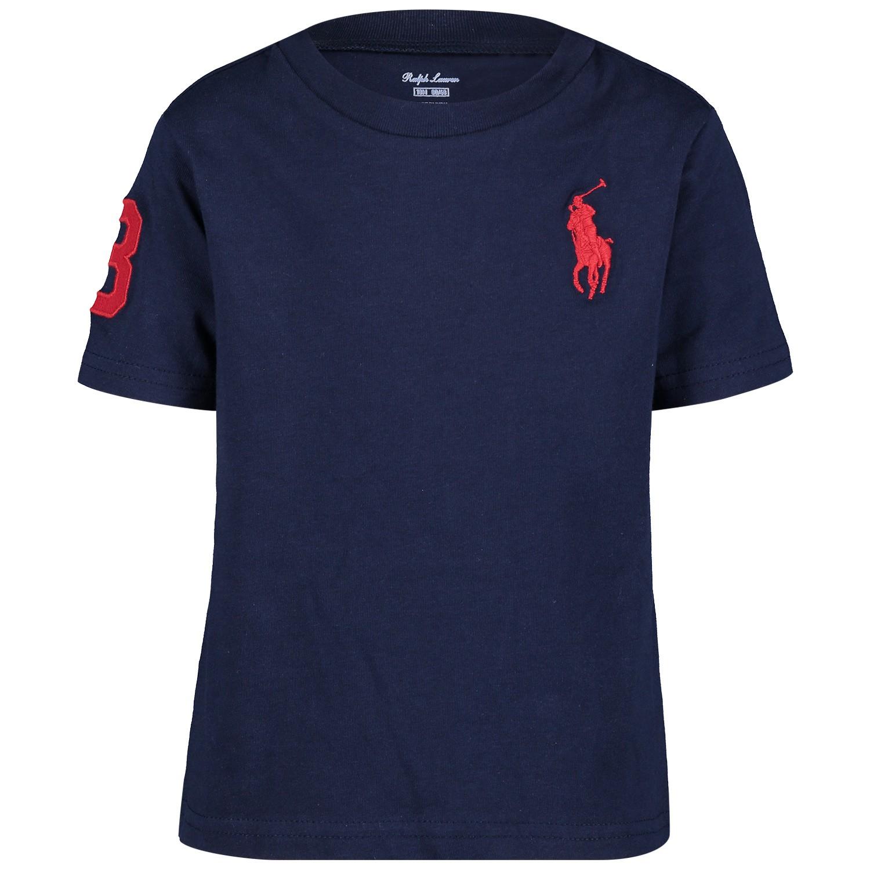 Picture of Ralph Lauren 703646B baby shirt navy