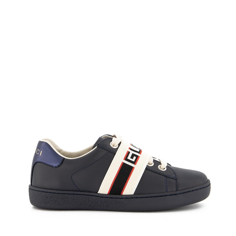 Afbeelding van Gucci 553053 kindersneakers navy