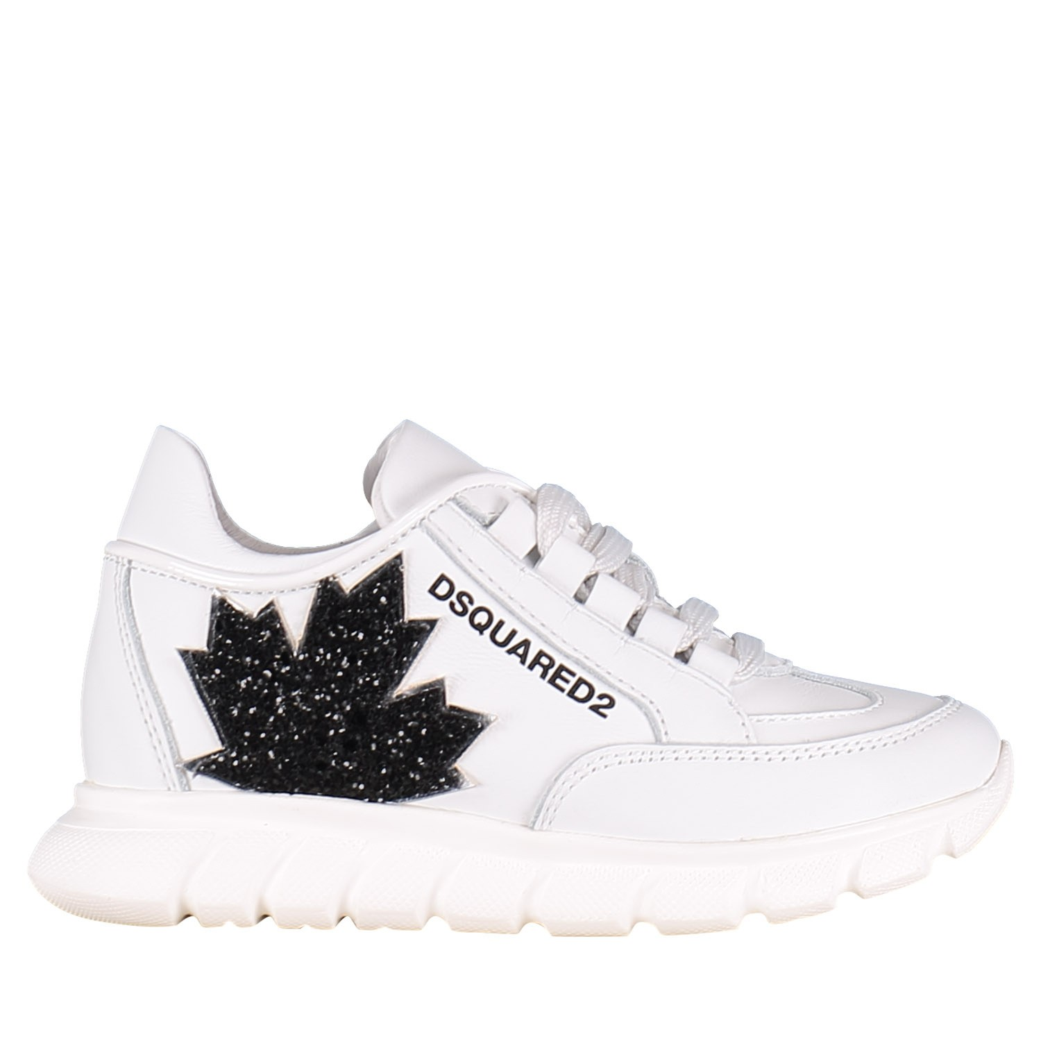 Picture of Dsquared2 59828 GLITTER kids sneakers white