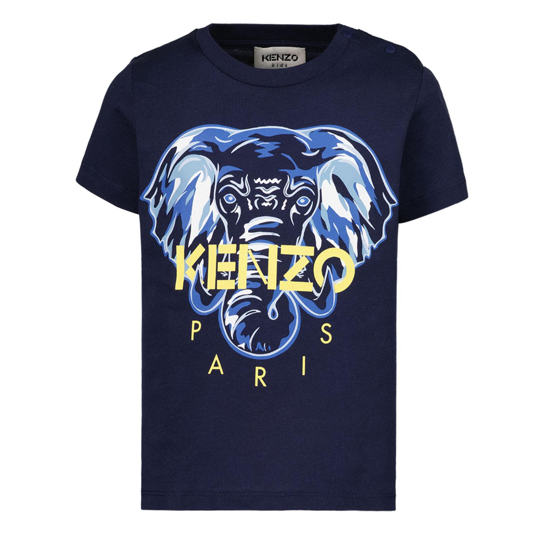 Afbeelding van Kenzo K05047 baby t-shirt navy