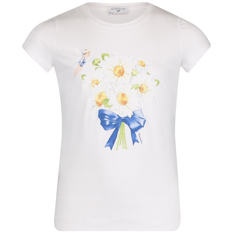 Afbeelding van MonnaLisa 113622SW kinder t-shirt wit