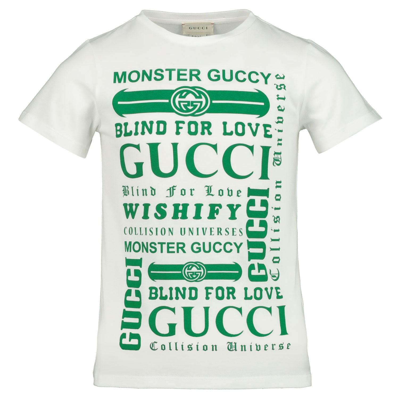 Afbeelding van Gucci 547559 kinder t-shirt groen/wit