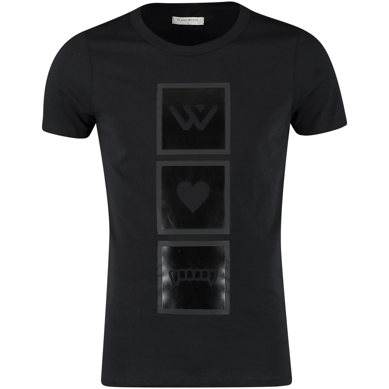 Afbeelding van Pure White 18030125 heren t-shirt zwart