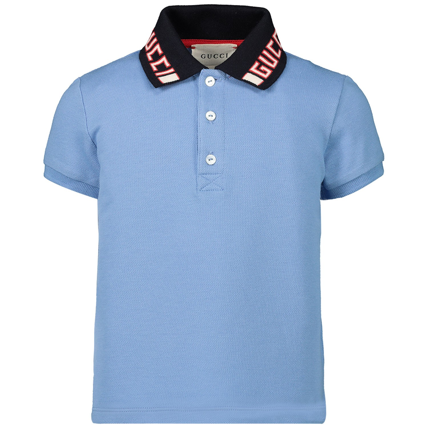 Picture of Gucci 522346 baby poloshirt light blue