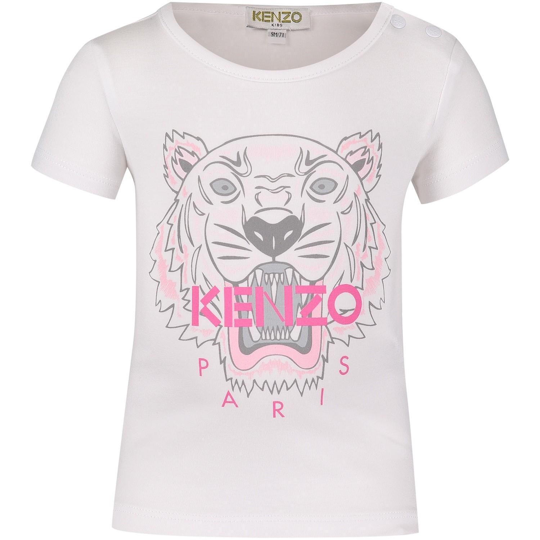 Afbeelding van Kenzo KM10058BB baby t-shirt wit