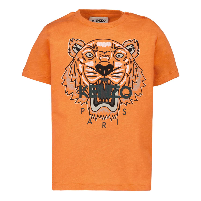 Afbeelding van Kenzo K05037 baby t-shirt oranje