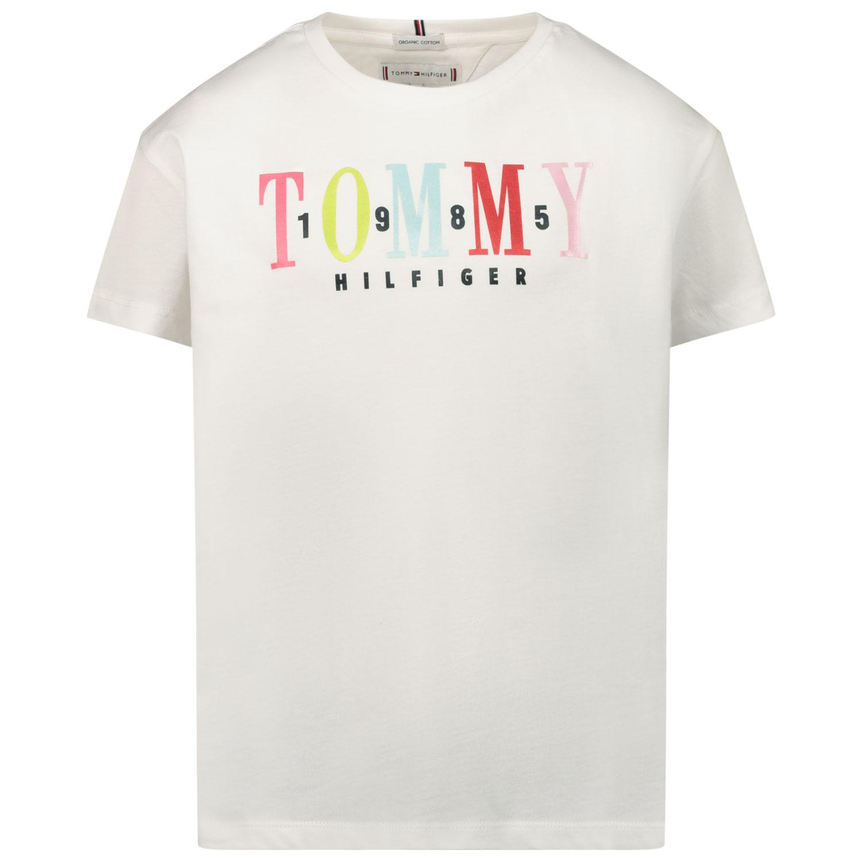 Afbeelding van Tommy Hilfiger KG0KG05761 kinder t-shirt wit