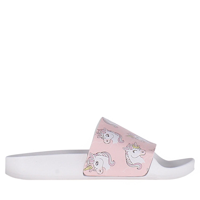 Afbeelding van The White Brand K017 kinderslippers licht roze