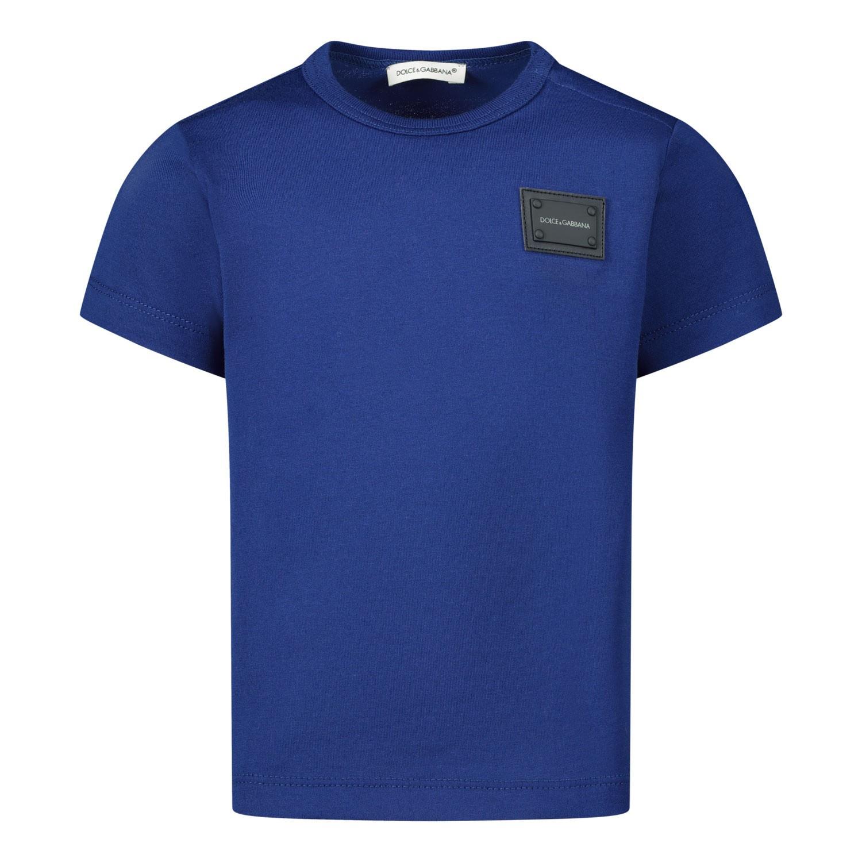 Afbeelding van Dolce & Gabbana L1JT7T G7OLK baby t-shirt blauw