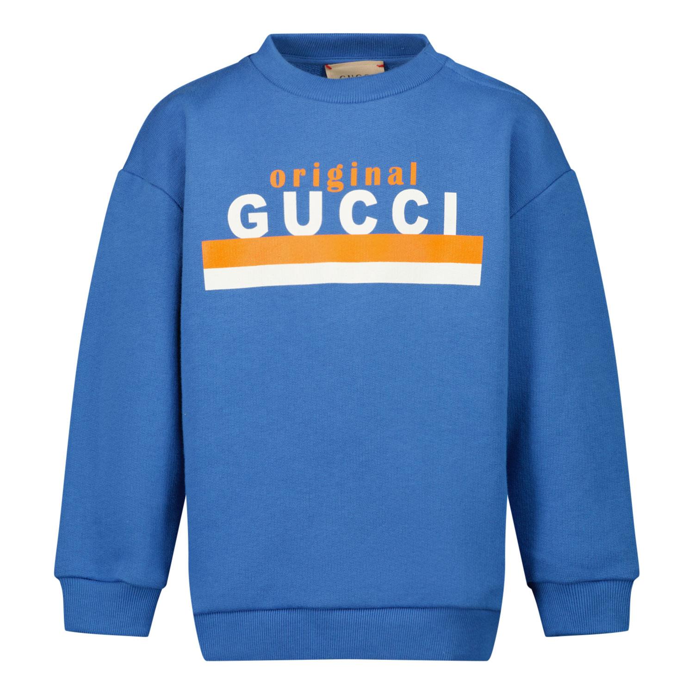 Afbeelding van Gucci 629430 baby trui blauw