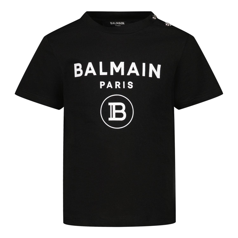 Afbeelding van Balmain 6O8A21 baby t-shirt zwart