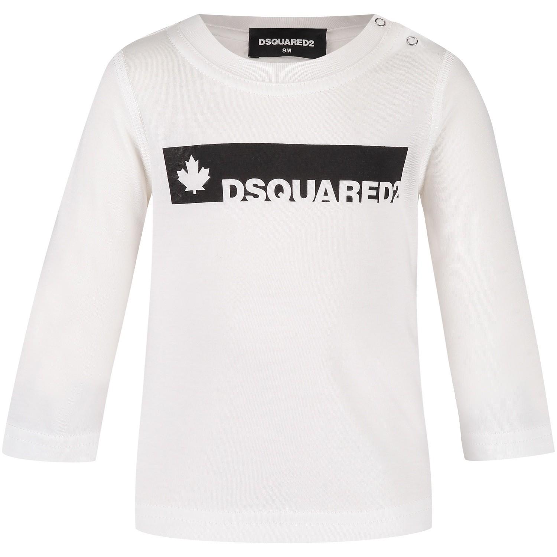 Afbeelding van Dsquared2 DQ02XB baby t-shirt wit