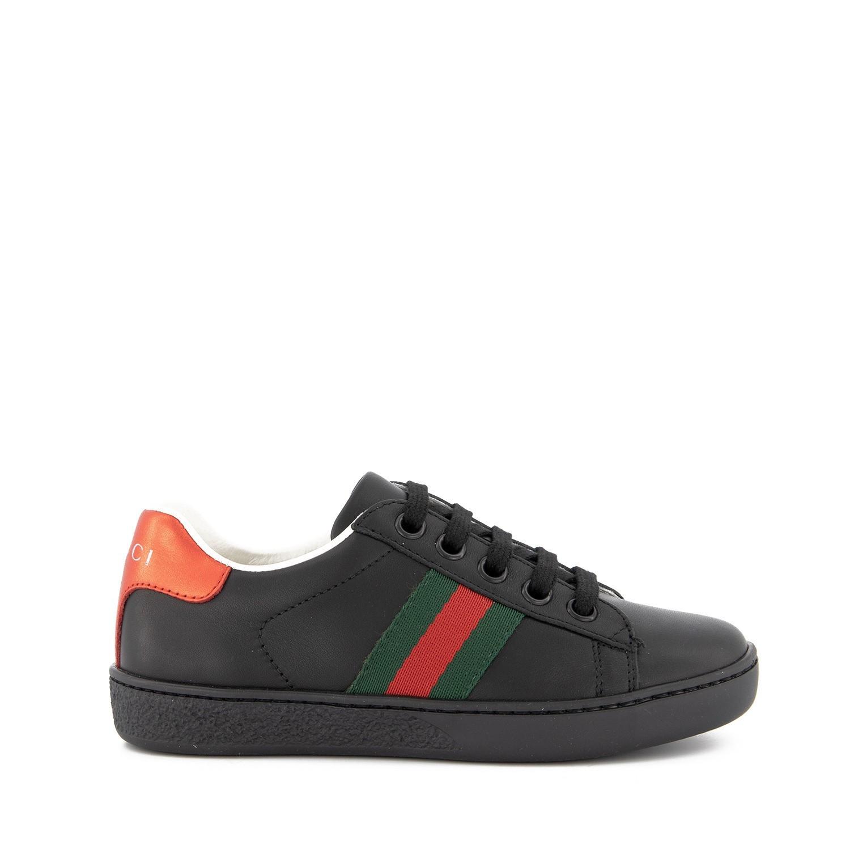 Afbeelding van Gucci 433146 kindersneakers zwart